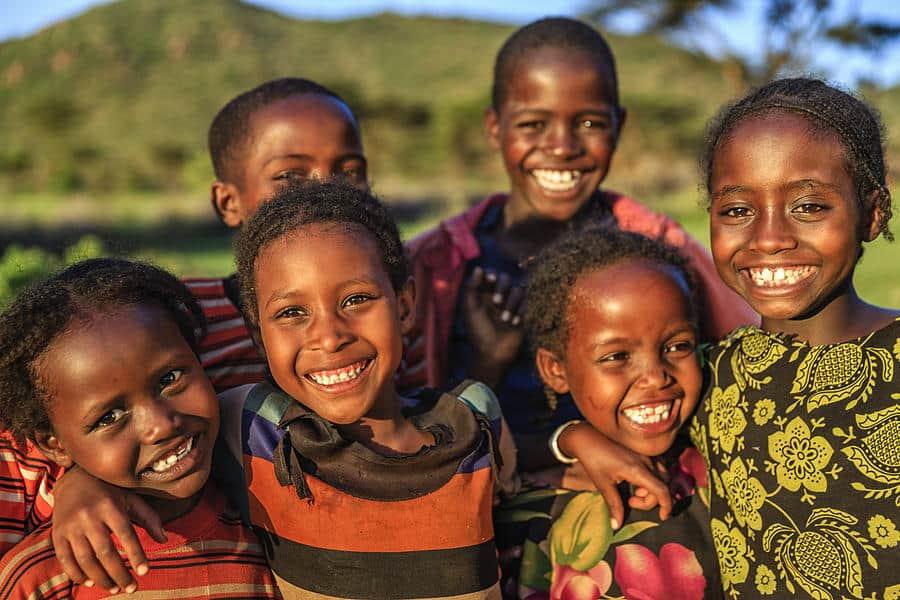 Happy Children in East Africa